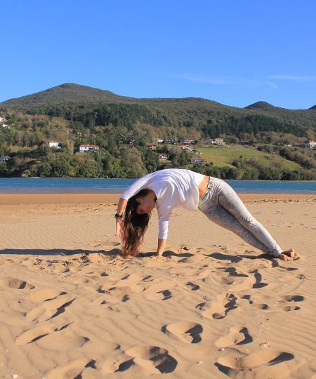 Yoga in Mundaka beach