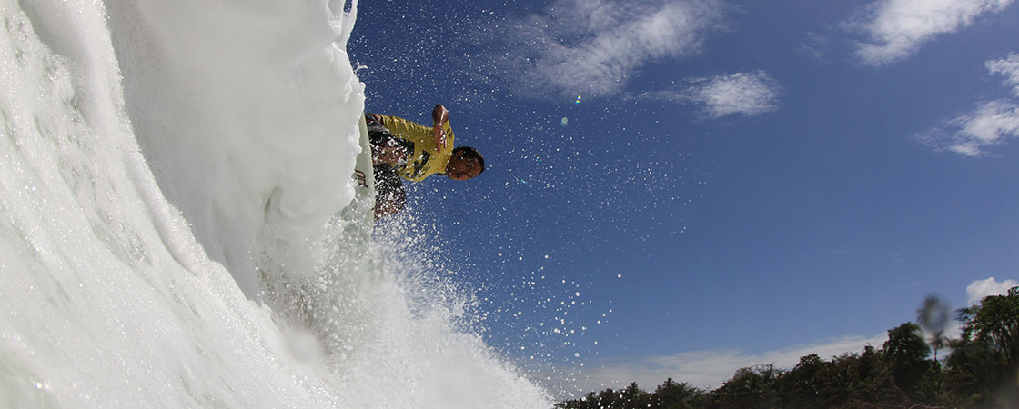 Surfing in Mundaka