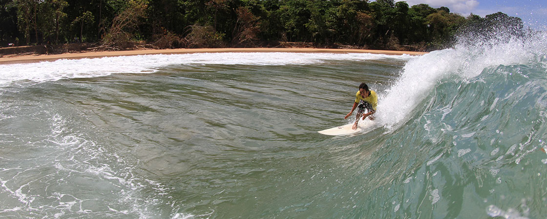 Denny Surfing in Caribbe
