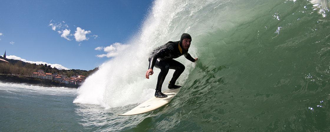 Surf Barrel in Mundaka