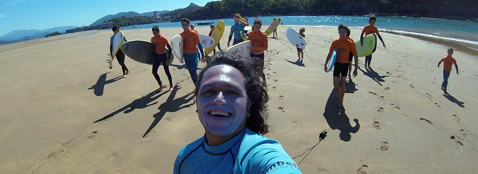 Clases de surf en Mundaka