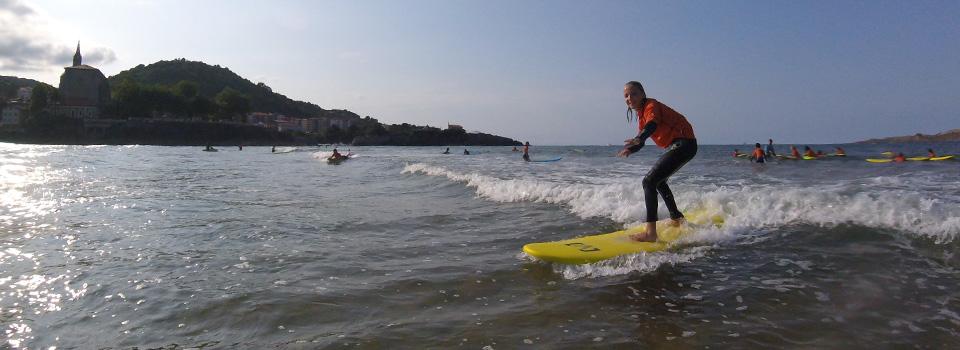 Morning Surfing in Mundaka Bay