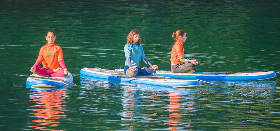 Relaxing Standup paddleboarding in Mundaka