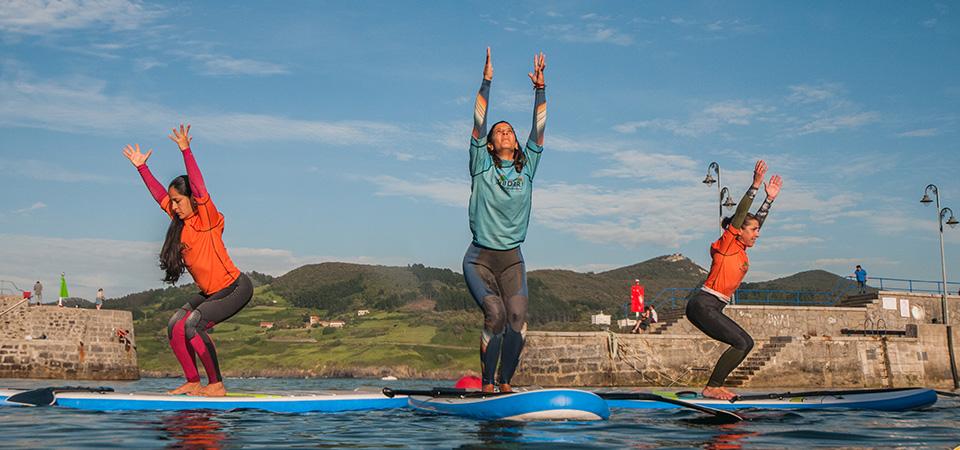 Relax Paddle Pilates and Yoga class in Mundaka