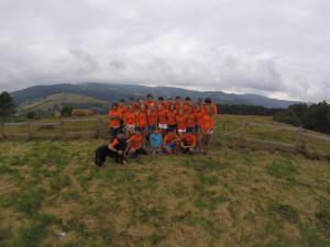 Grupo a la montaña